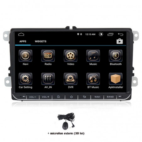 Navigatie dedicata VW Caddy 2010-2015, Android 8.0, Quad Core, GPS, Mirrorlink
