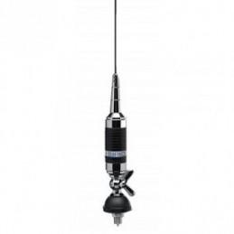 Antena statie radio CB, Sirio Super Carbonium 27 fara montura, lungime 1.4m, rabatabila, putere 35w continuu, 250W intermitent.