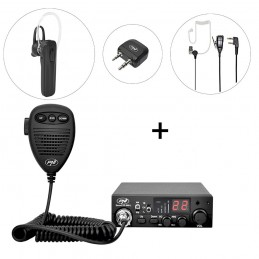 Kit Statie radio CB PNI Escort HP 8001L ASQ, PNI BT-DONGLE 8001, Casca Bluetooth microfon PNI BT-MIKE 7500 PTT