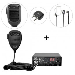 Kit Statie radio CB PNI Escort HP 8001L ASQ + PNI BT-DONGLE 8001 + Microfon cu Bluetooth PNI BT-MIKE 8500