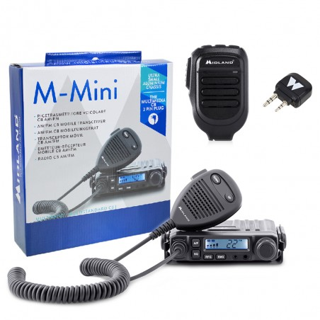 Kit Statie radio CB Midland M-MINI, Midland WA-CB, Microfon Bluetooth WA-MIKE