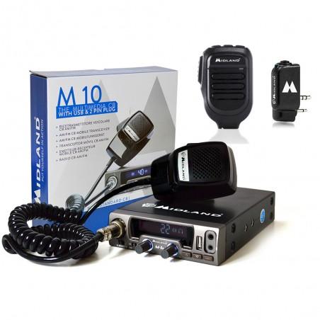 Kit Statie radio CB Midland M10, Midland WA-DONGLE C1199, Microfon Bluetooth WA-MIKE C1263