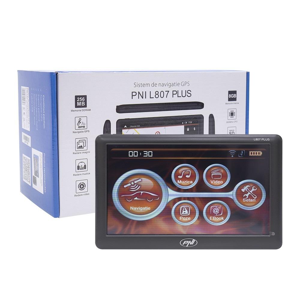 Sistem navigatie GPS PNI L807 PLUS ecran 7 inch, 800 MHz, 256MB DDR, 8GB memorie interna, FM transmitter