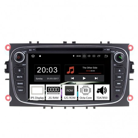 Navigatie dedicata Ford Focus 2008-2010, Android 8.1, Octa Core, GPS, Mirrorlink