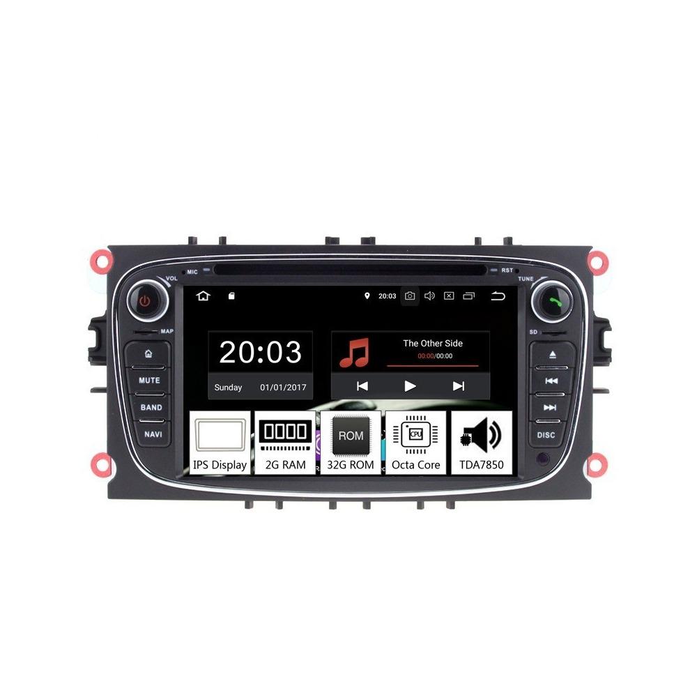 Navigatie dedicata Ford Tourneo Connect 2010, Android 8.1, Octa Core, GPS, Mirrorlink negru