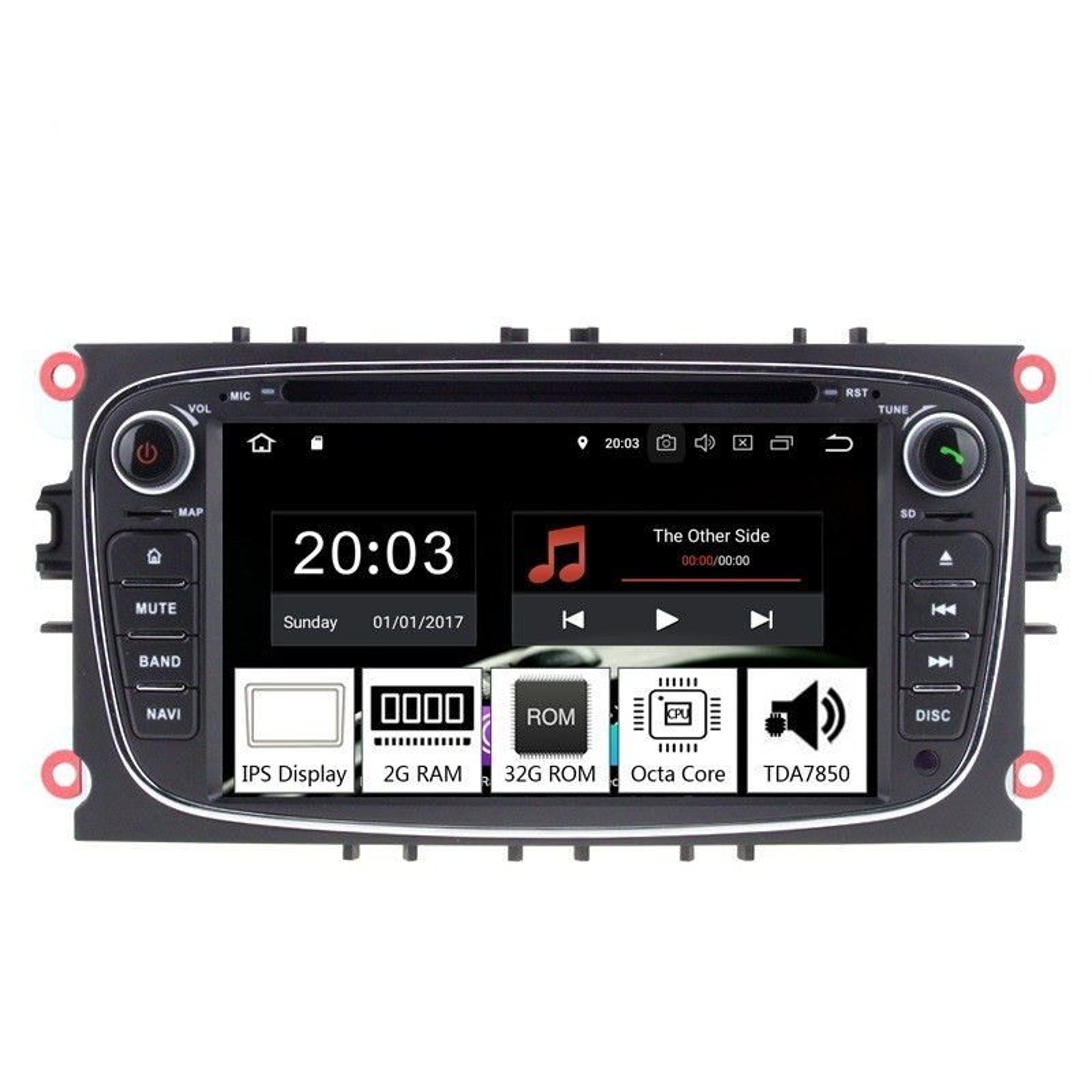 Navigatie dedicata Ford S-Max 2008-2010, Android 8.1, Octa Core, GPS, Mirrorlink negru