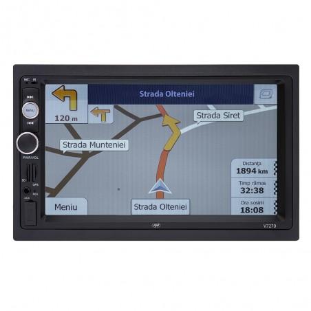 Navigatie multimedia PNI V8270 2 DIN GPS MP5 touch screen 7 inch radio FM Bluetooth Mirror Link AUX USB microSD