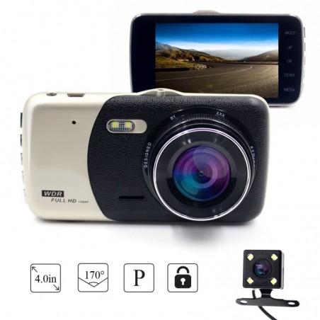 Camera Video Auto Dubla Novatek T810 FullHD Functia WDR Ecran IPS 4inch