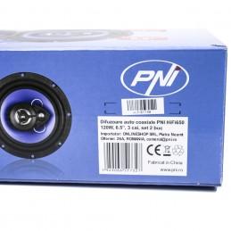 Difuzoare auto coaxiale PNI HiFi650, 120W, 16.5 cm, 3 cai, set 2 buc