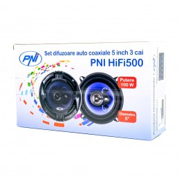 Difuzoare auto coaxiale PNI HiFi500, 100W, 12.7 cm, 3 cai, set 2 buc