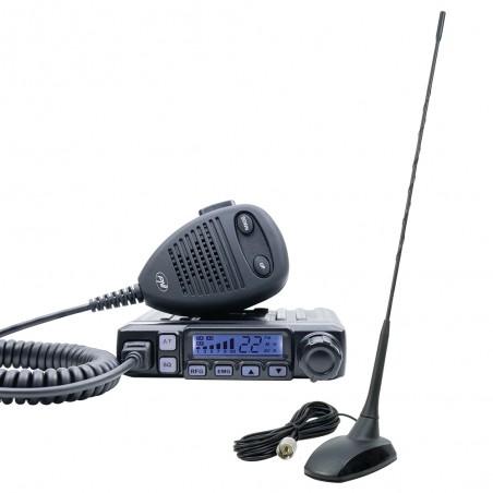 Pachet statie radio CB PNI Escort HP 7120 ASQ RF Gain 4W si antena CB PNI Extra 48