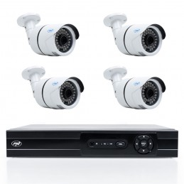 Pachet DVR/NVR PNI House AHD808 - 8 canale 4MP H265 + 4 camere PNI House AHD40 4MP IP66
