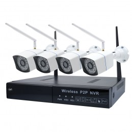 Kit supraveghere video PNI House WiFi550 NVR 8 canale 1080P si 4 camere wireless de exterior 720P, P2P, IP66