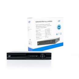 DVR/NVR PNI House AHD808, maxim 8 canale 4MP analogice sau IP, H265, intrari audio, iesire audio, USB2.0