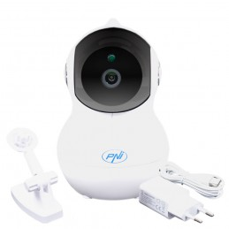 Camera supraveghere video PNI IP930W 1080P 2 MP cu IP P2P PTZ wireless, slot card microSD