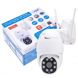 Camera supraveghere video wireless PNI IP230T 1080P cu PTZ H264+ suporta microSD 128GB