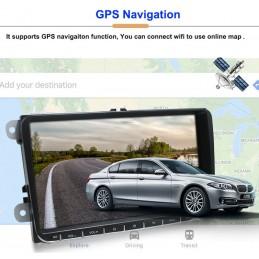 Navigatie 9 inch VW Golf 5 6 Passat B6 B7 CC Tiguan Touran Jetta Polo Amarok Skoda Seat Android 8.1 Quad Core GPS BT USB WiFi