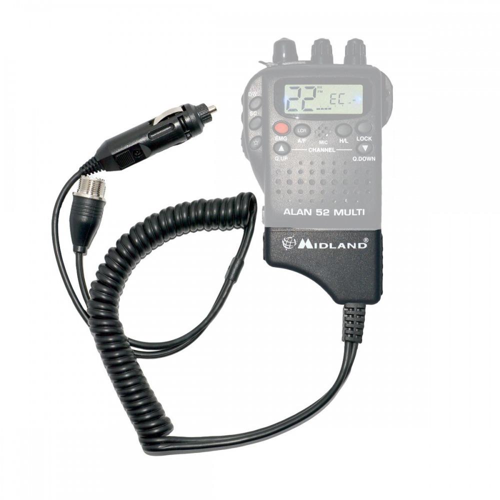Adaptor Midland pentru alimentare 12V si antena exterioara pentru Alan 42 si Alan 52