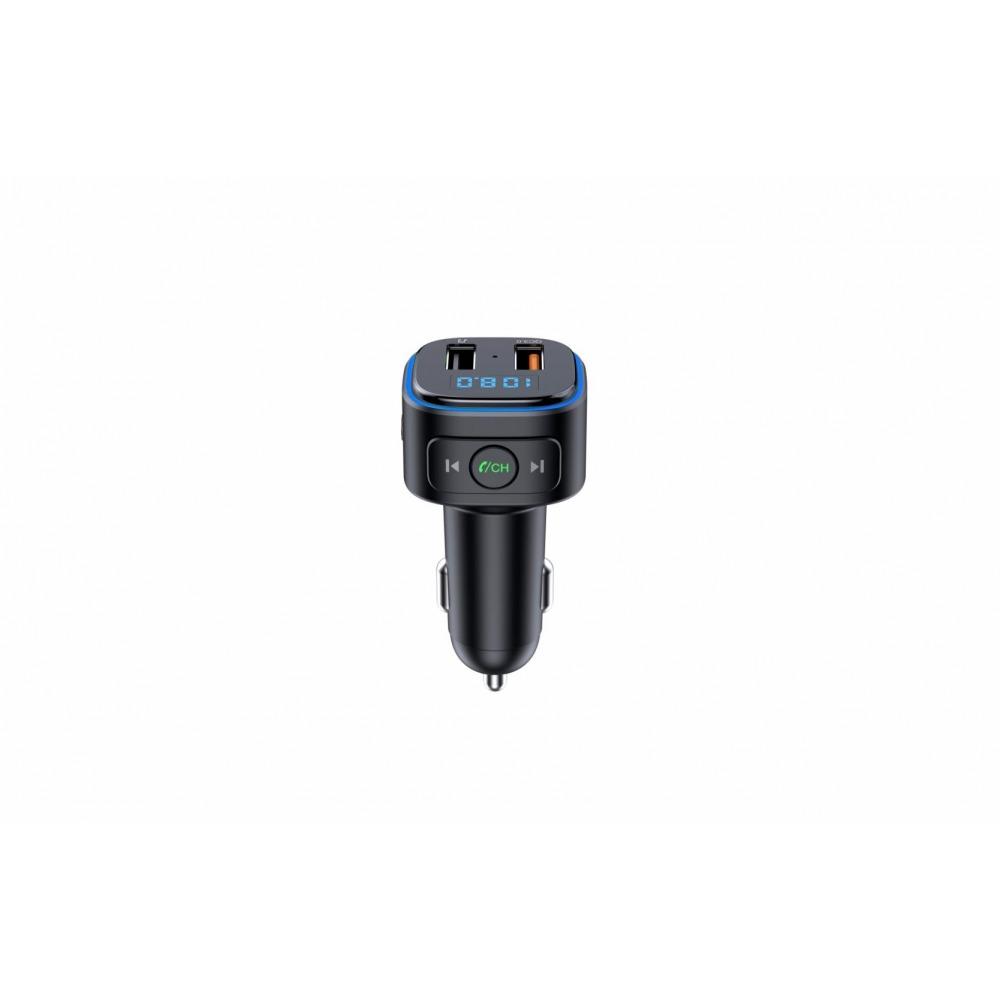 Modulator FM Serioux ABFM46, Bluetooth 5, MP3 player, transmitator FM, port USB dual, incarcare rapida