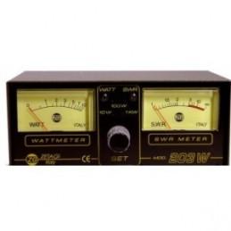 Reflectometru statii radio, Zetagi 203. Frecventa SWR MHz 3 ÷ 200.  Frecventa Wattmetru MHz 26 ÷ 30. Max Power W 1000 SSB.