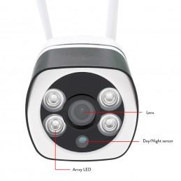 Camera supraveghere video PNI IP649 cu IP 2MP 1080P WiFi slot card micro SD