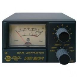Reflectometru statii radio, Zetagi 201. Frecventa SWR MHz 3 ÷ 200 MHz.  Frecventa Wattmetru MHz 26 ÷ 30. Max Power W 2000 SSB.