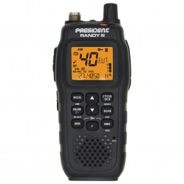 Statie radio CB portabila President RANDY III AM/FM, Roger Beep, ASC, ANL, NB, HI-CUT, CTCSS / DCS, acumulator