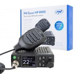 Statie radio CB PNI Escort HP 8900 ASQ, 12V / 24V, RF Gain, Roger Beep, CTCSS-DCS, Dual Watch AM/FM