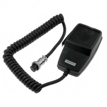 Microfon statie radio, dinamic, Megawat, 4 pini