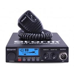 Statie radio CB Storm Matrix cu putere reglabila 4W - 20 W (versiune export).