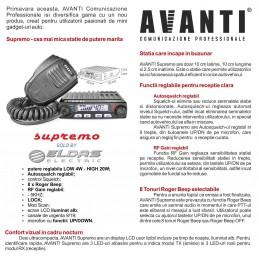 Statie radio CB Avanti Supremo 4-20W versiune export eldas electric
