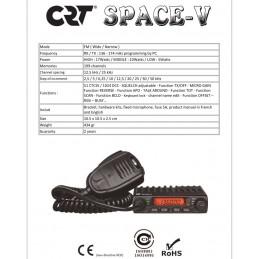 Statie radio radioamatori, taxi, CRT SPACE V 136-174 MHz specificatii