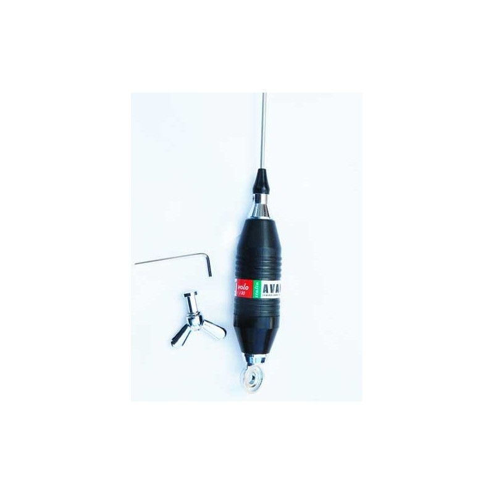 Antena statie radio CB, Avanti Volo, 75 cm. Cu spirala metalica in jurul bobinei, fara magnet inclus. Lungime de 75 centimetri.
