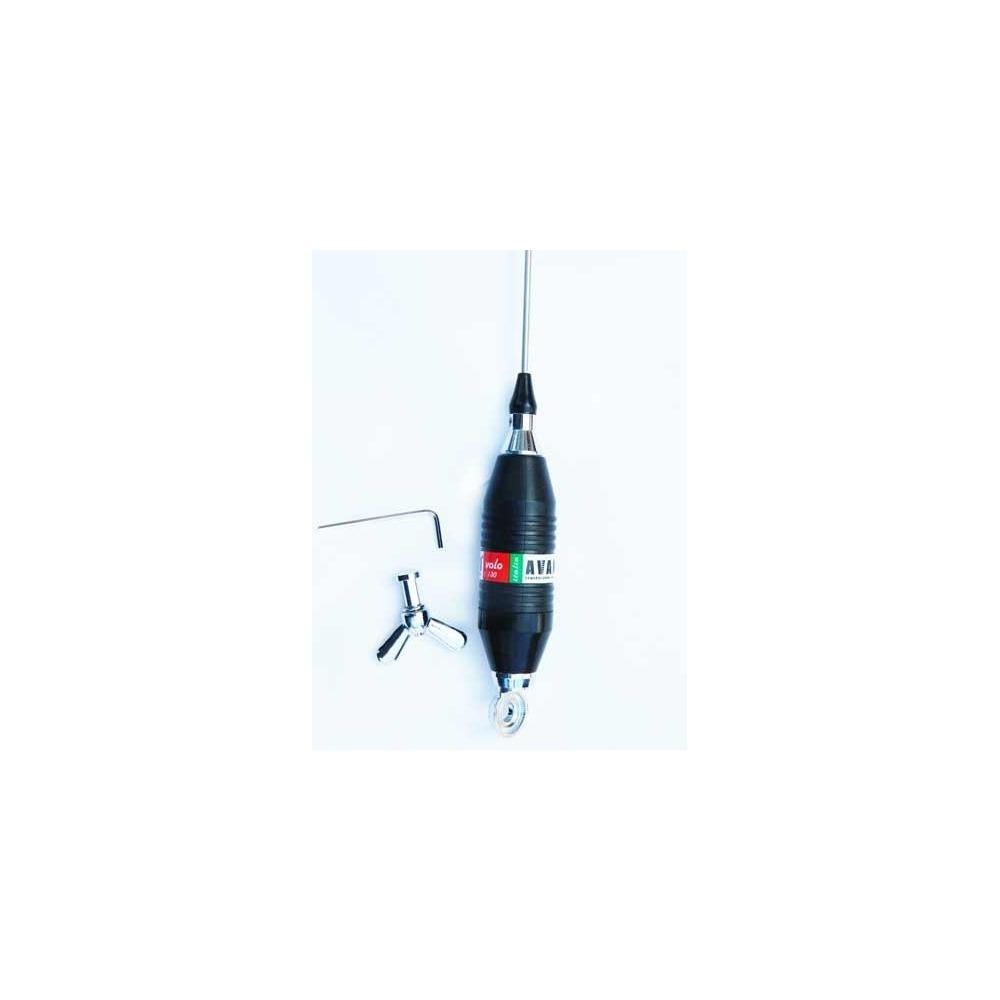 Antena statie radio CB, Avanti Volo, 95 cm. Cu spirala metalica in jurul bobinei, fara magnet inclus. Lungime de 95 centimetri.