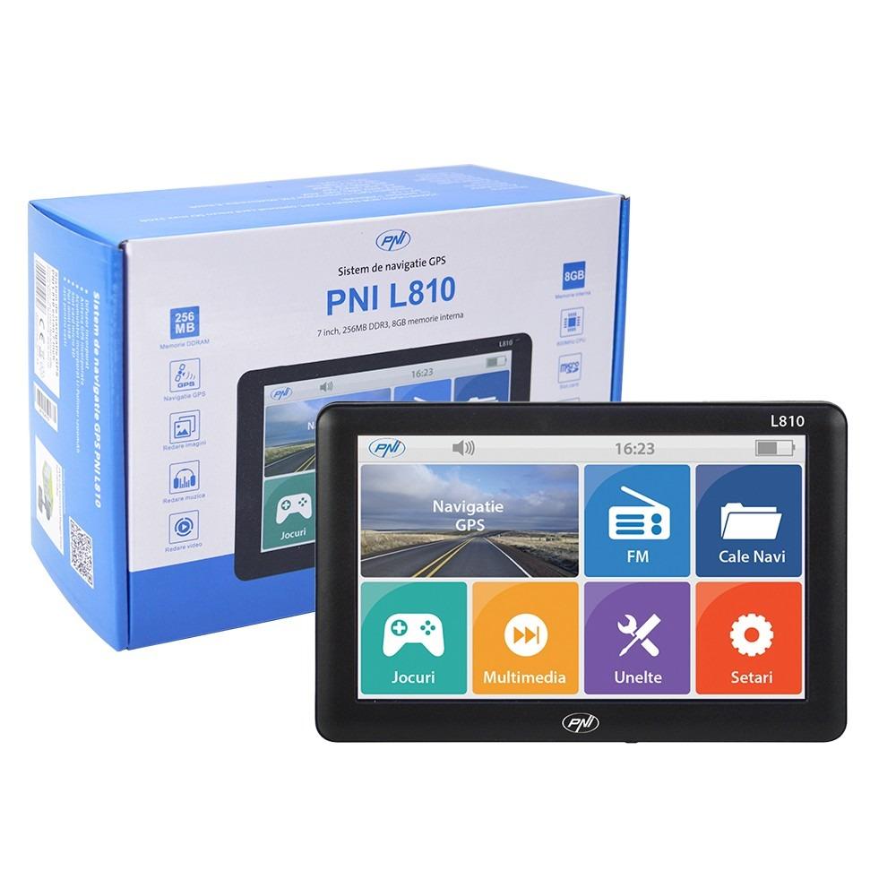 Sistem navigatie GPS PNI L810 ecran 7 inch, 800 MHz, 256MB DDR, 8GB memorie interna, FM transmitter