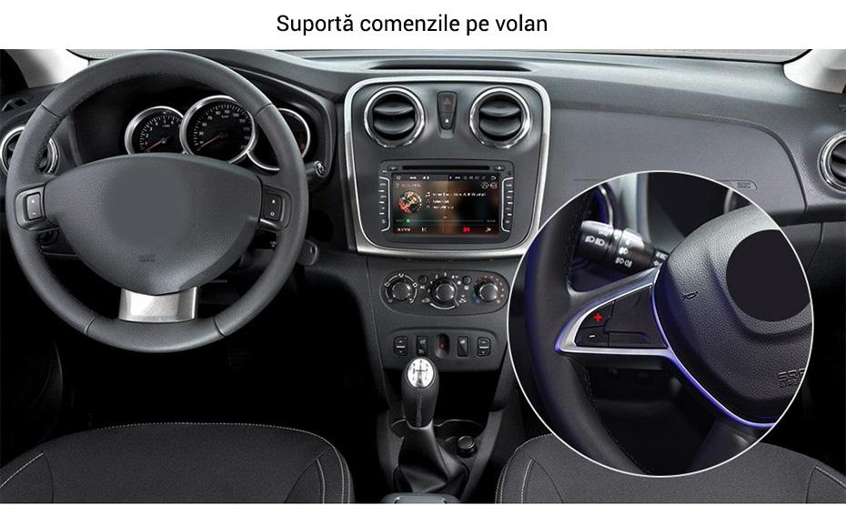 Navigatie auto cu suport comenzi volan